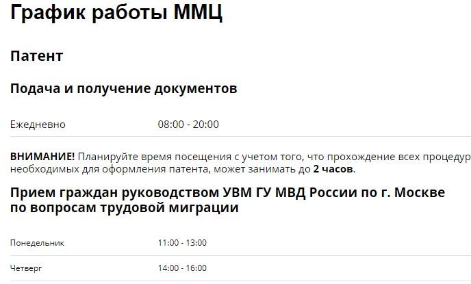 график работы миграционного центра в сахарово на официальном сайте